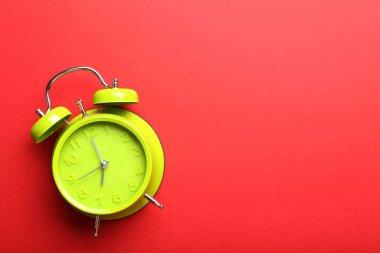 Green alarm clock
