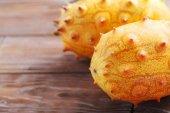 Kiwano fruits close up