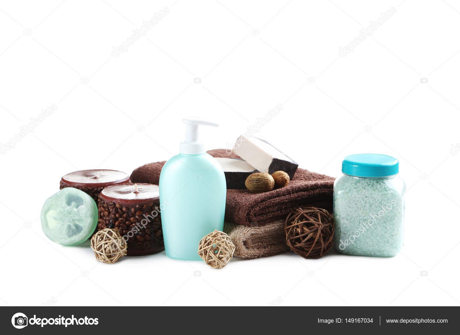 asciugamani per il bagno con sale marino — Foto Stock © 5seconds ...