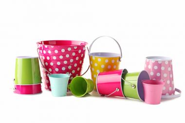 Colorful new buckets