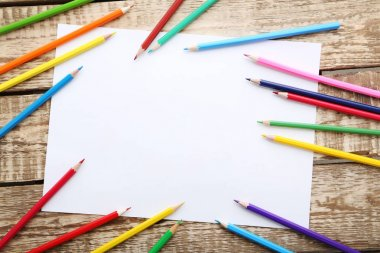 Drawing colourful pencils