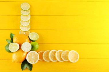 Ripe limes and lemons