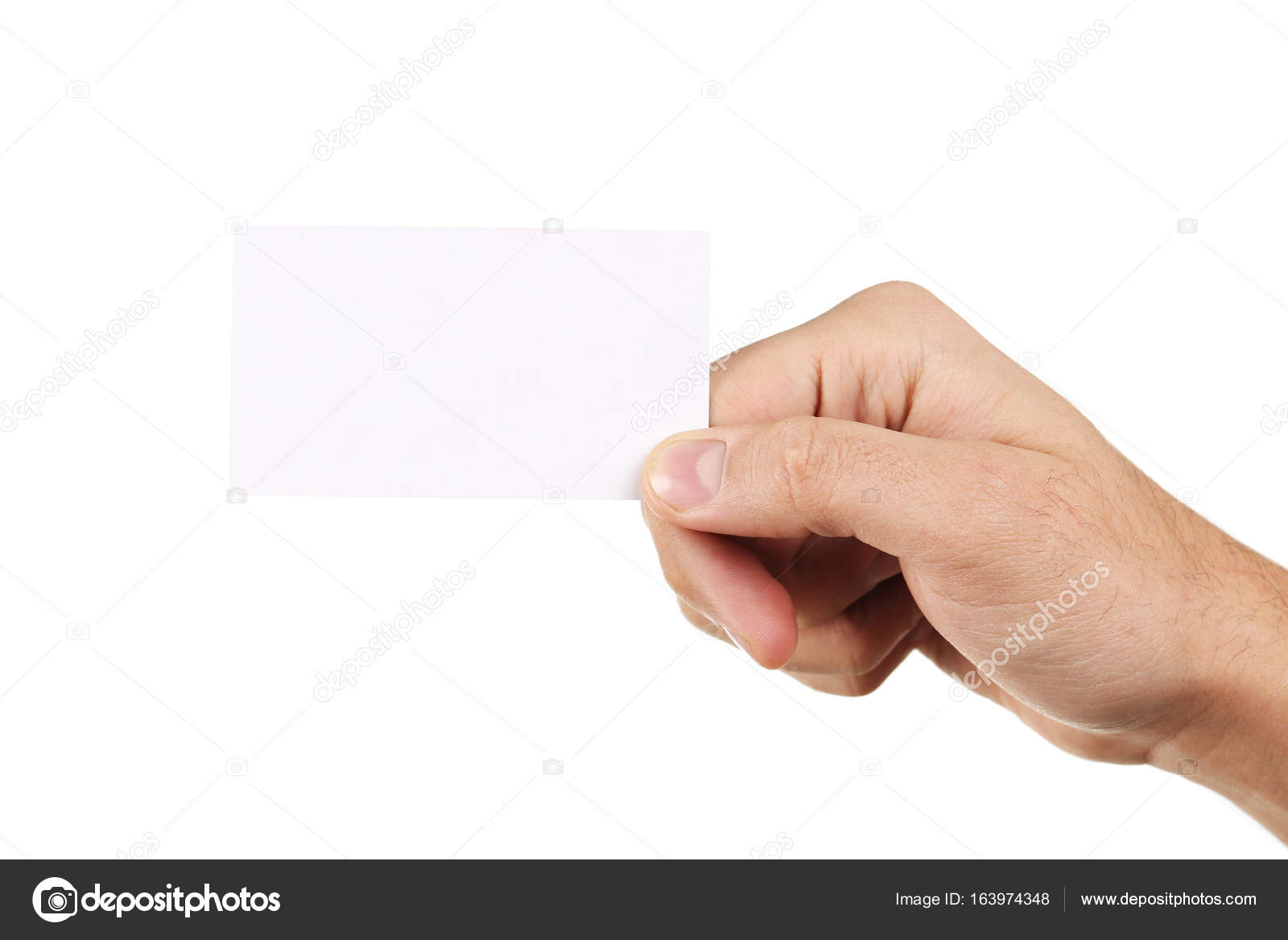 hand holding a business card — Stock Photo © 5seconds #163974348