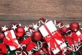 Vánoční jedle silnější větve cetky