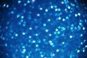Fotografie Krásná modrá hvězda bokeh pozadí