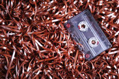Old retro cassette tape