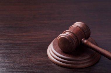 Judge gavel on table