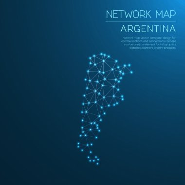 Argentina network map.