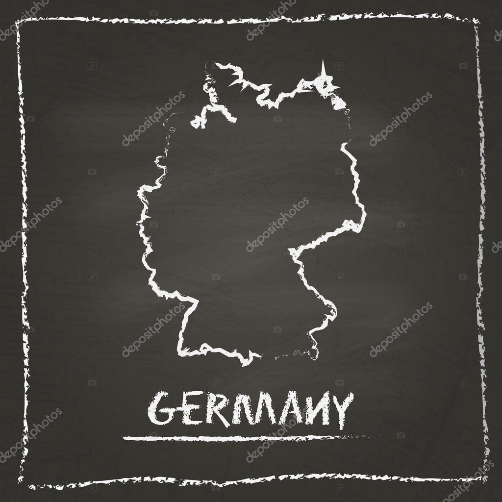 Deutschland Karte Umriss Stockvektoren Lizenzfreie Deutschland