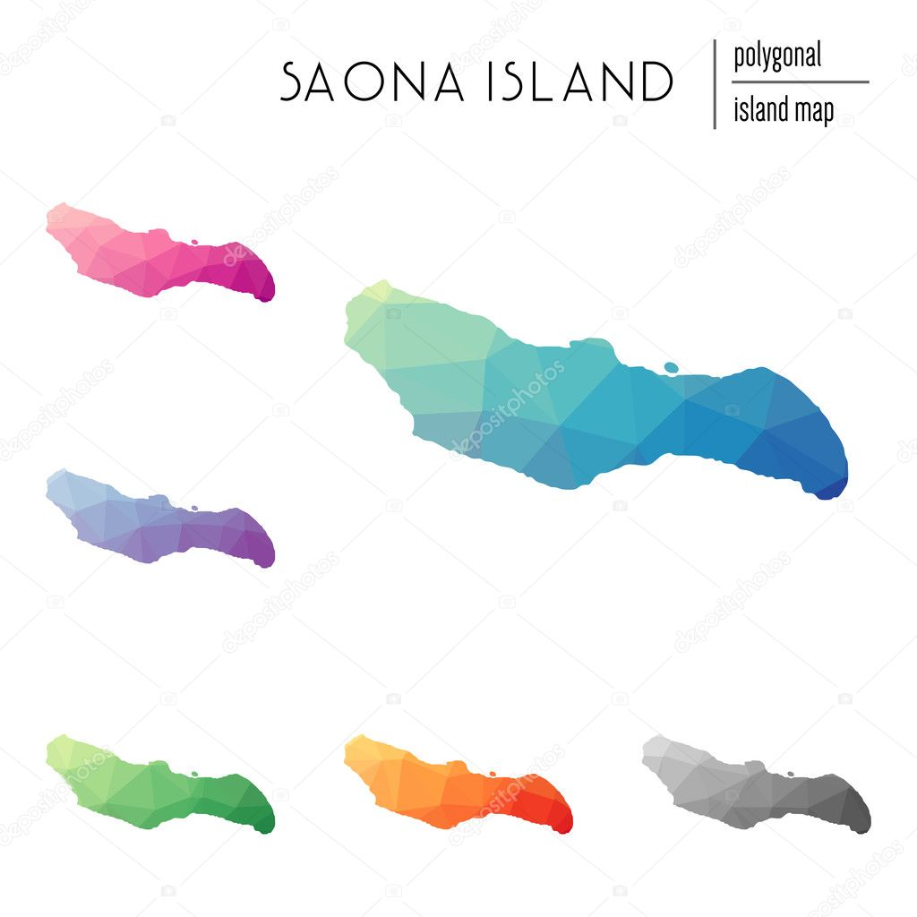 ilha saona mapa Conjunto de vetor que poligonal ilha Saona mapas preenchido  ilha saona mapa
