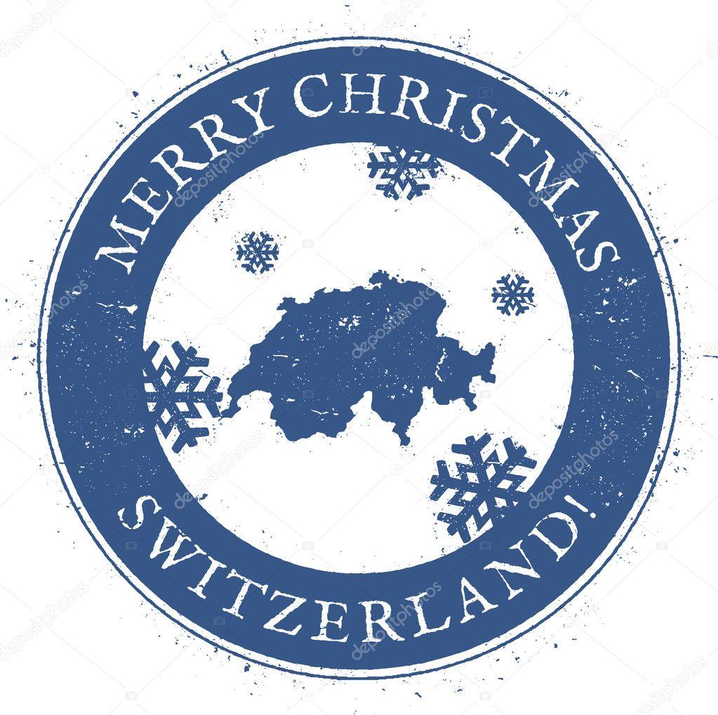 Frohe Weihnachten Schweiz.Karte Der Schweiz Vintage Frohe Weihnachten Schweiz Stempel