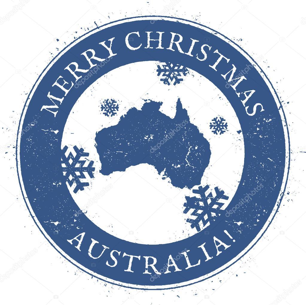 Carte Noel Australie.Carte De L Australie Cachet Vintage Joyeux Noel Australie