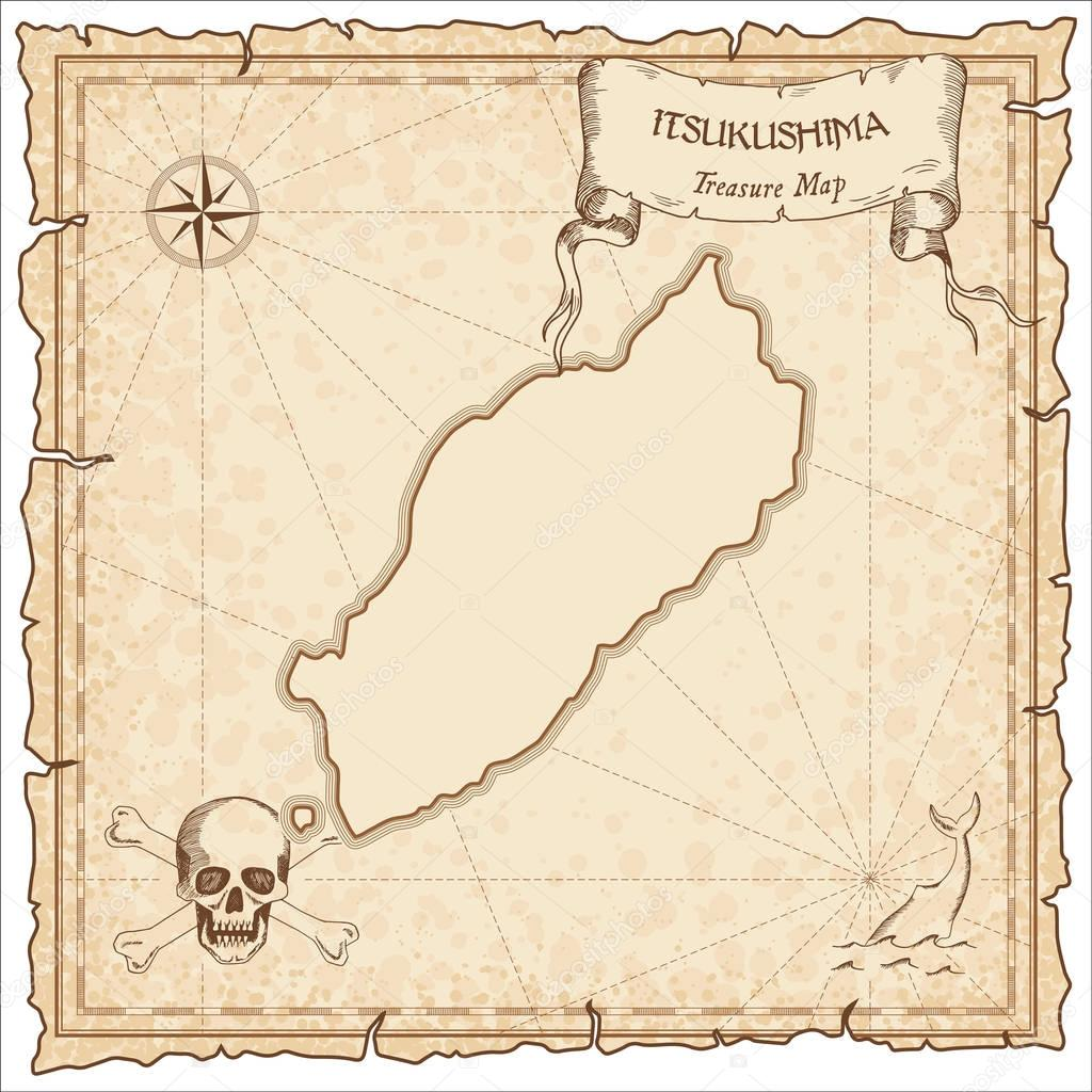 Itsukushima old pirate map Stock Vector gagarych 129405792