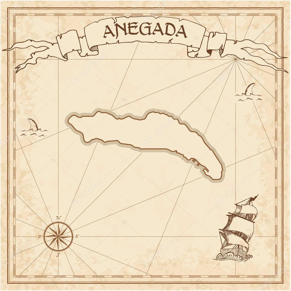 Anegada old treasure map Stock Vector gagarych 130131464