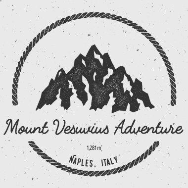 Vesuvius in Naples, Italy outdoor adventure logo.