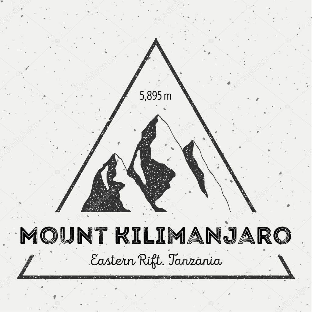 Kilimanjaro in Eastern Rift, Tanzania outdoor adventure logo.