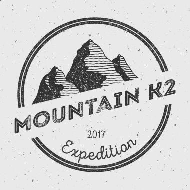 K2 in Karakoram, Pakistan outdoor adventure logo.