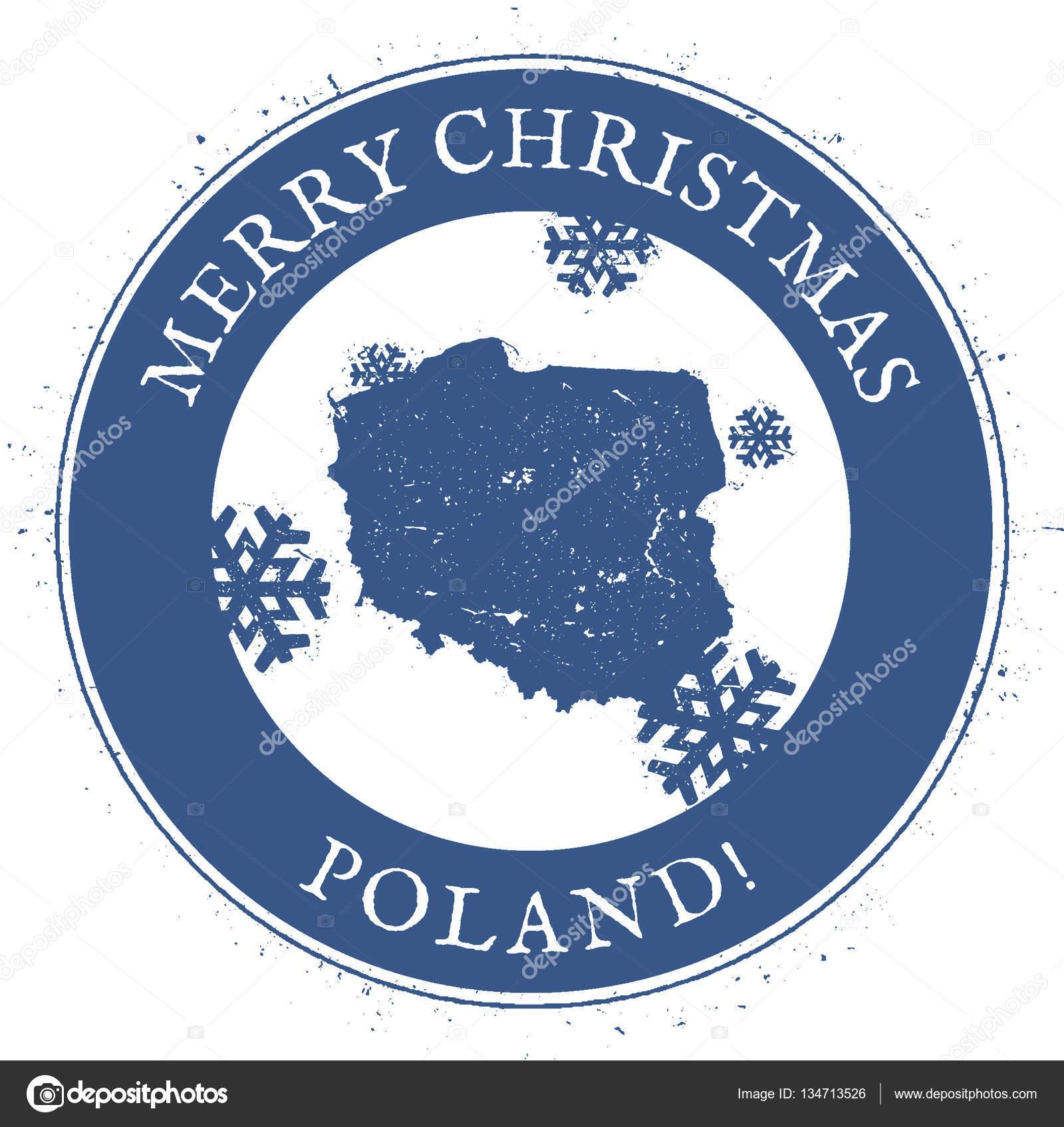 ポーランド地図郡地図とメリー ...