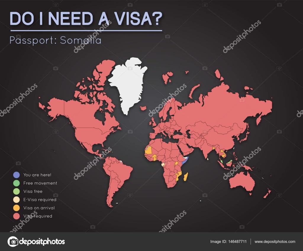 World Map Somolia.Visas Information For Federal Republic Of Somalia Passport Holders