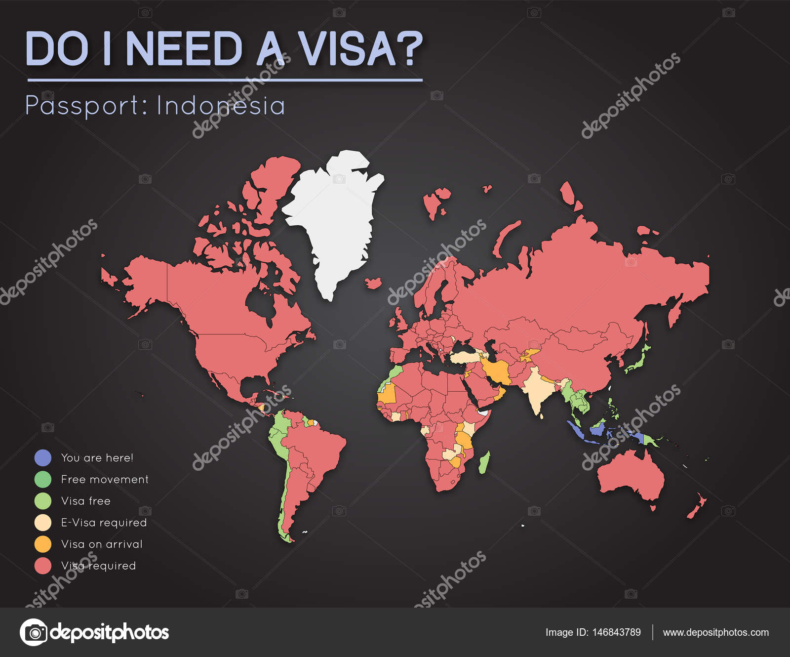 Visas information for republic of indonesia passport holders year visas information for republic of indonesia passport holders year 2017 world map infographics showing visa requirements for all countries gumiabroncs Images