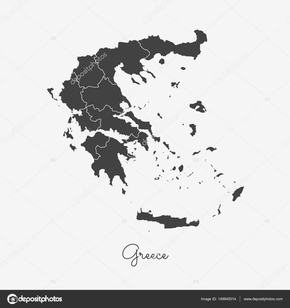 Cartina Muta Della Grecia.Regione Di Grecia Mappa Muta Grigio Sulla Mappa Dettagliata