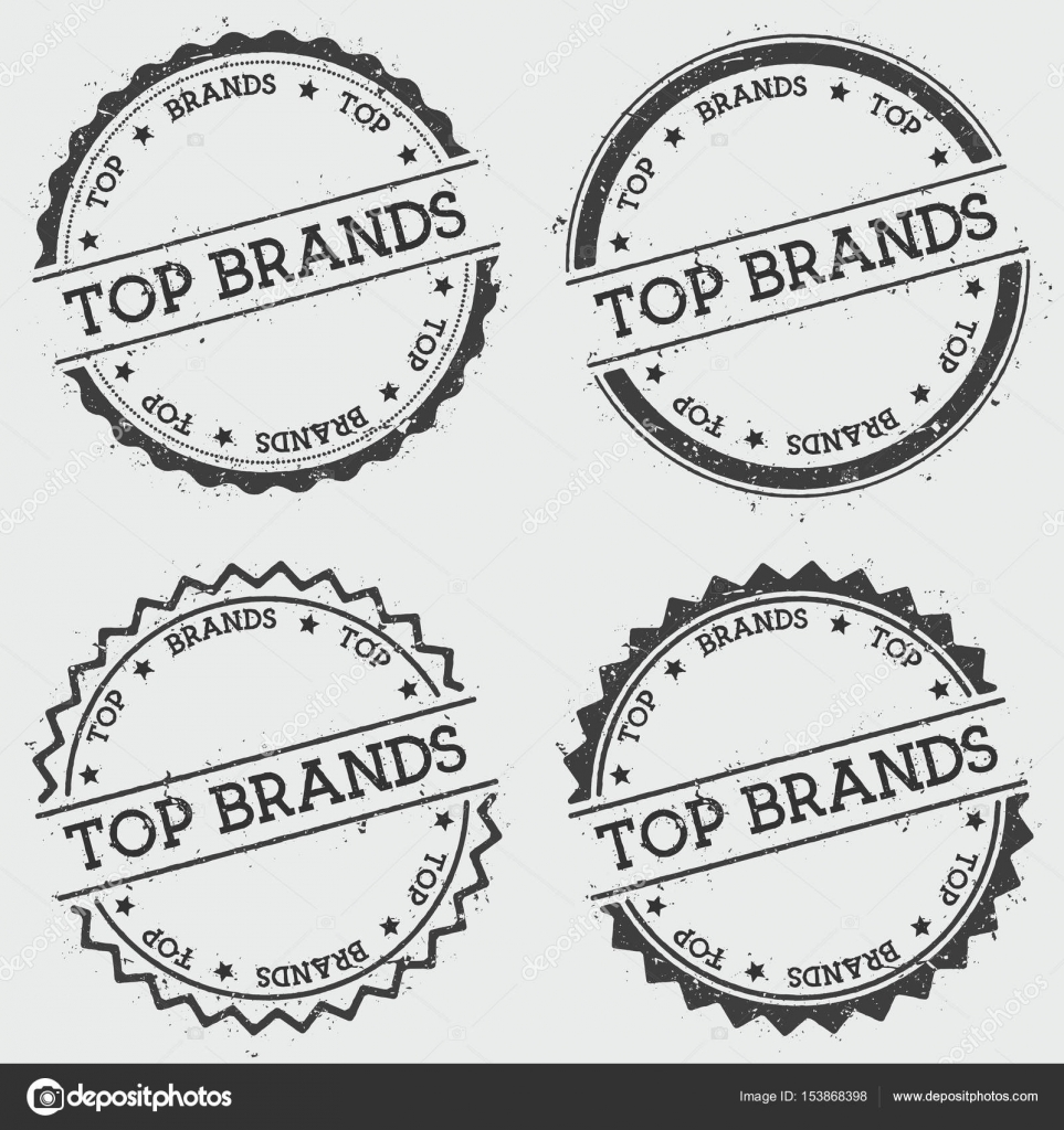 top-marken insignien stempel isoliert auf weißem hintergrund grunge