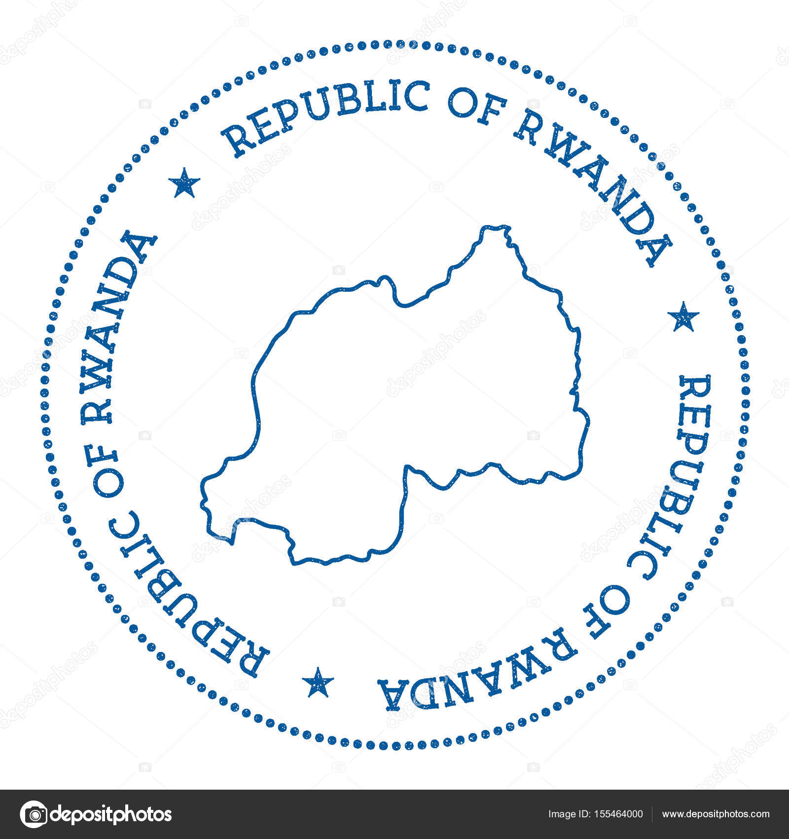 Rwanda vector map sticker hipster and retro style badge with rwanda rwanda vector map sticker hipster and retro style badge with rwanda map minimalistic insignia with gumiabroncs Images