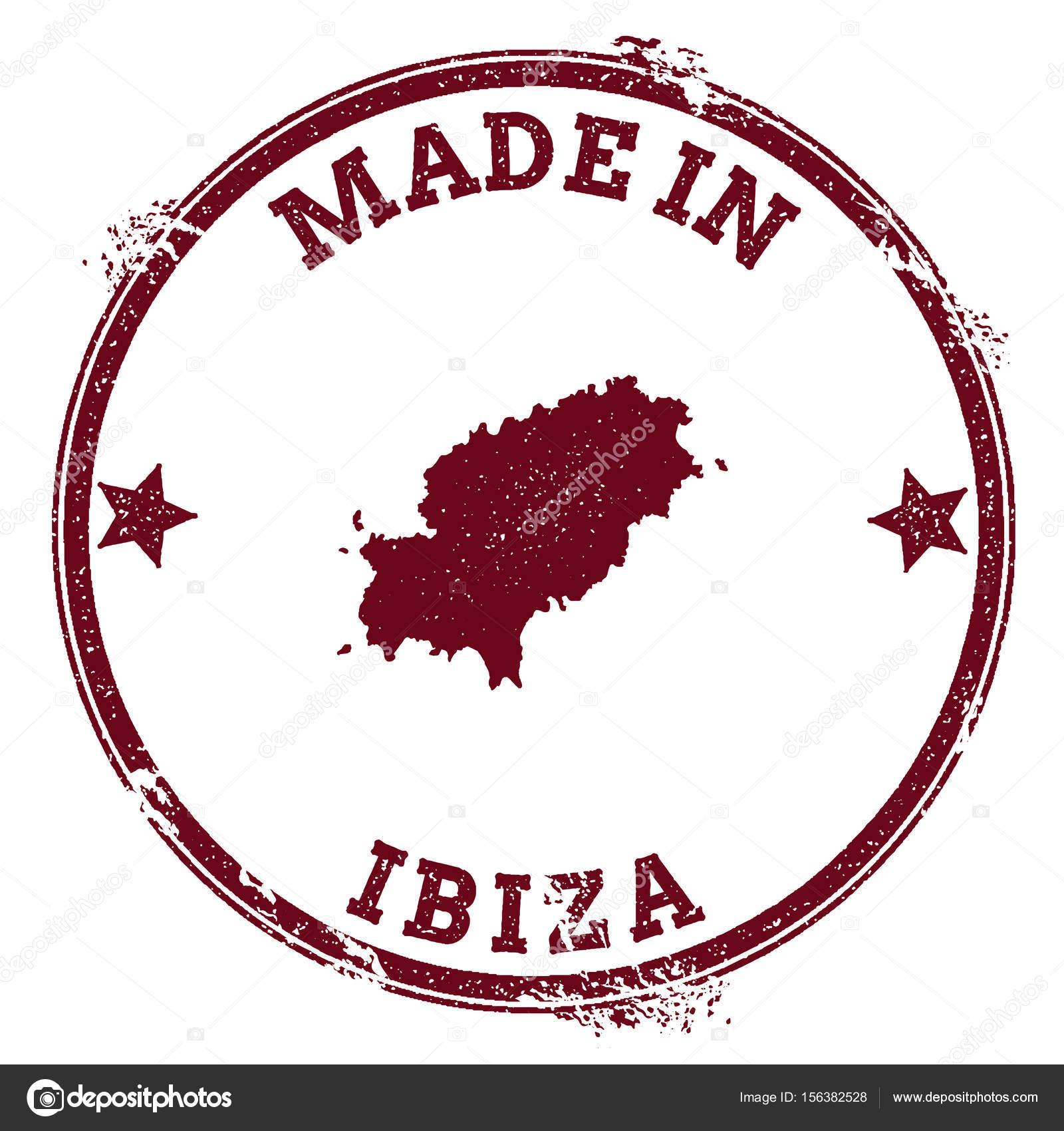 Ibiza Karte Umriss.Ibiza Versiegeln Vintage Insel Karte Aufkleber Grunge Stempel Mit