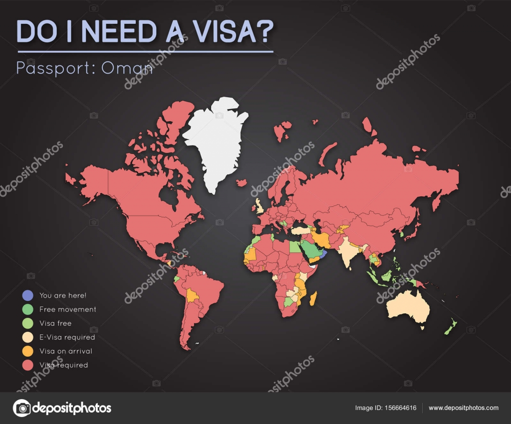 Visas information for sultanate of oman passport holders year 2017 visas information for sultanate of oman passport holders year 2017 world map infographics showing visa requirements for all countries gumiabroncs Image collections