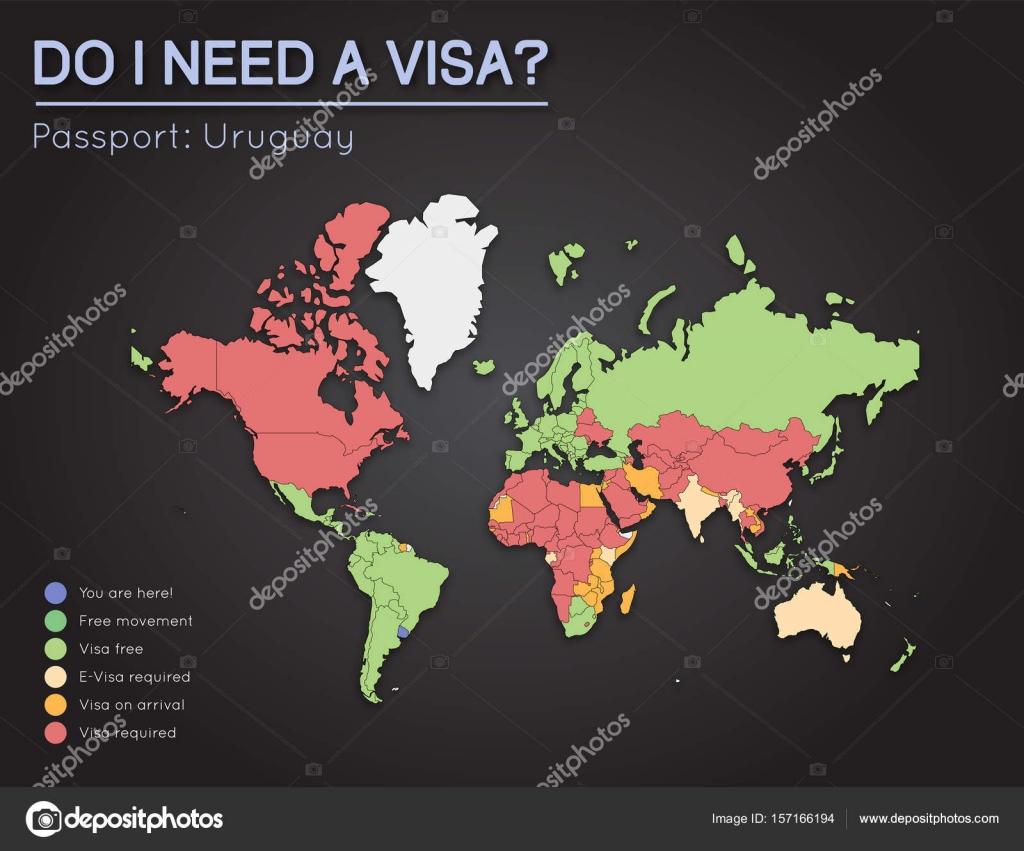 Informacin de visas para repblica oriental del uruguay pasaporte informacin de visas para repblica oriental del uruguay pasaporte titulares ao 2017 world map vector gumiabroncs Image collections