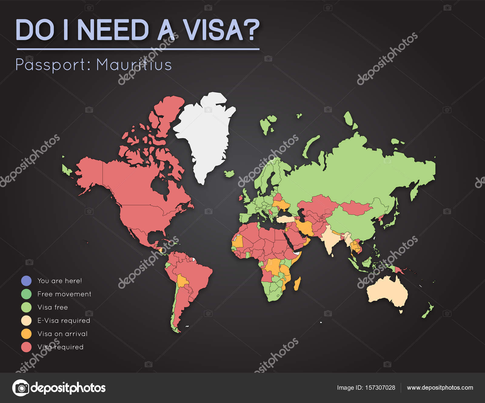 Visas information for republic of mauritius passport holders year visas information for republic of mauritius passport holders year 2017 world map infographics showing visa requirements for all countries gumiabroncs Images