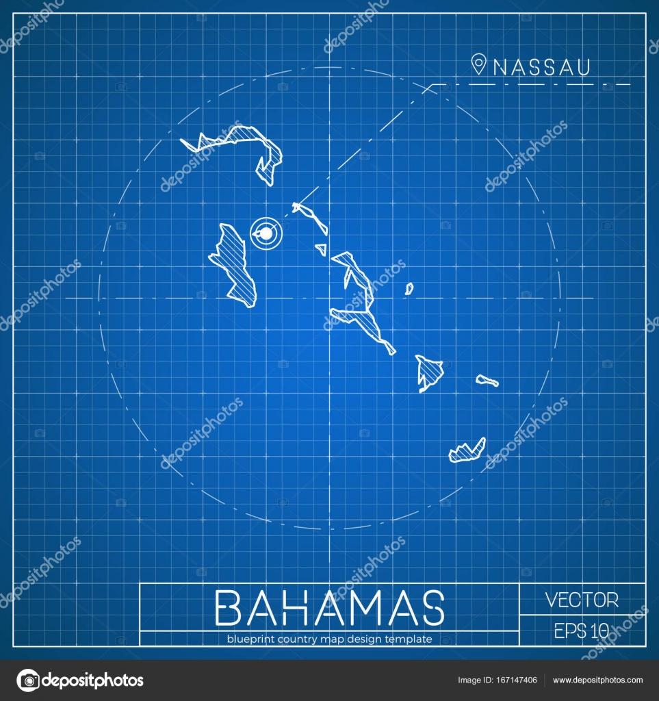 Bahamas blueprint plantilla mapa con ciudad capital que nassau bahamas blueprint plantilla mapa con ciudad capital que nassau marcado en el mapa de las bahamas malvernweather Image collections