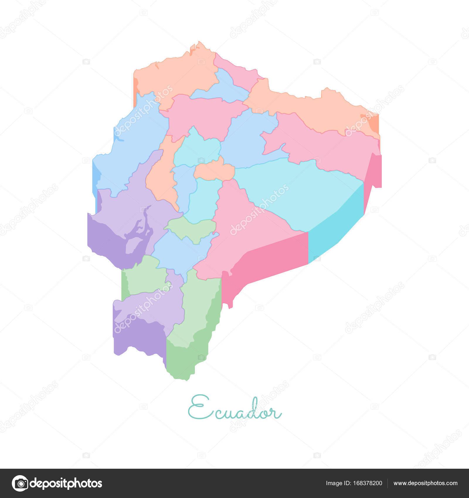 Ecuador regi n mapa colorido superior vista isom trica for Provincia sudafricana con durban