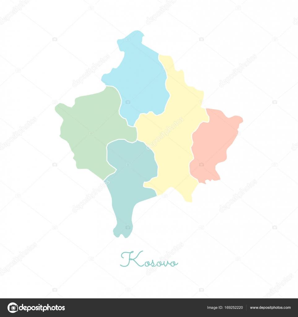 Regin de kosovo mapa colorido con mapa detallado esquema blanco de regin de kosovo mapa colorido con mapa detallado esquema blanco de la ilustracin de vector de gumiabroncs Image collections