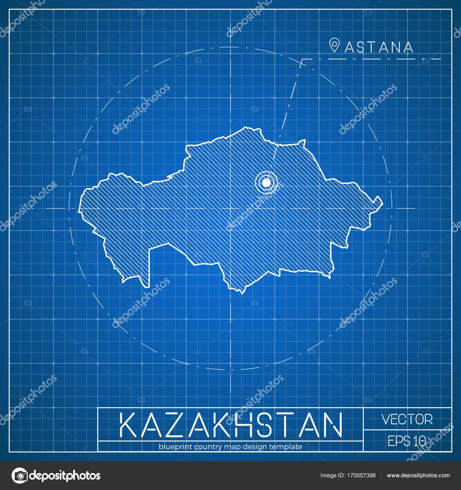 Plantilla de mapa kazajstn blueprint con ciudad capital que astana plantilla de mapa kazajstn blueprint con ciudad capital que astana marcado en plano mapa de kazakhstani malvernweather Gallery