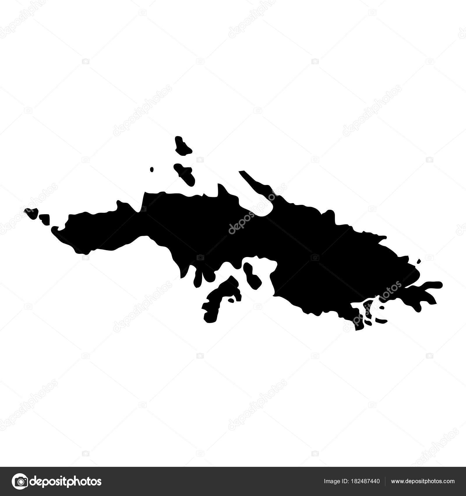 saint thomas map island silhouette icon isolated saint thomas black map outline vector stock vector