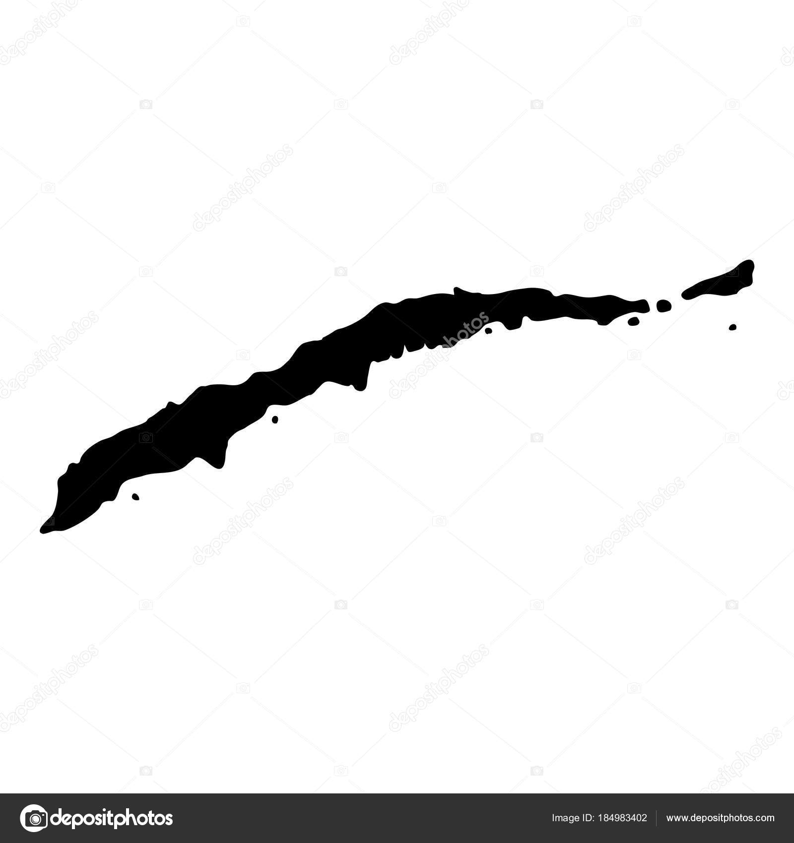 Roatan map Island silhouette icon Isolated Roatan
