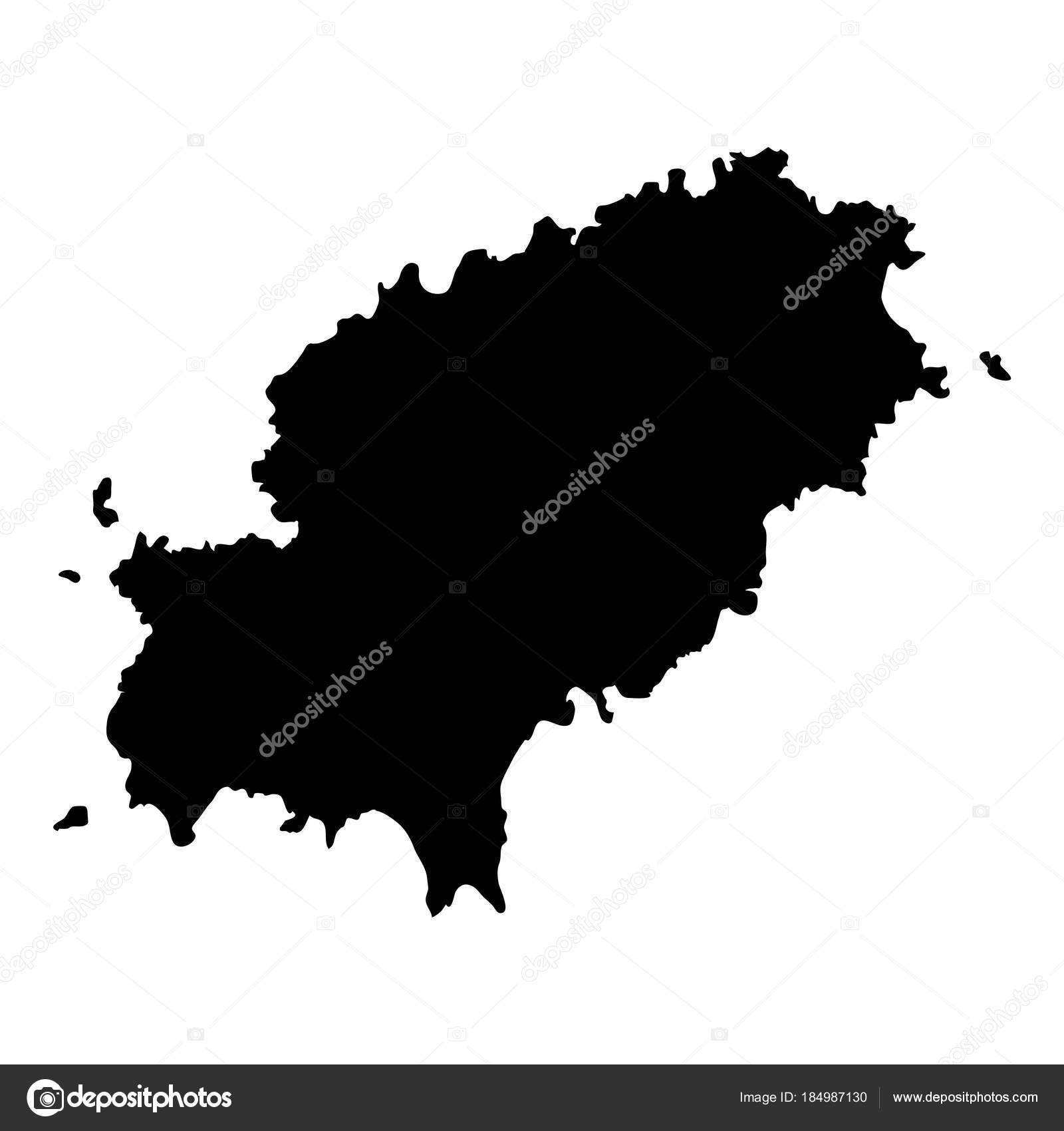 Ibiza Karte Umriss.Ibiza Karte Insel Silhouette Symbol Isoliert Ibiza Schwarze Karte