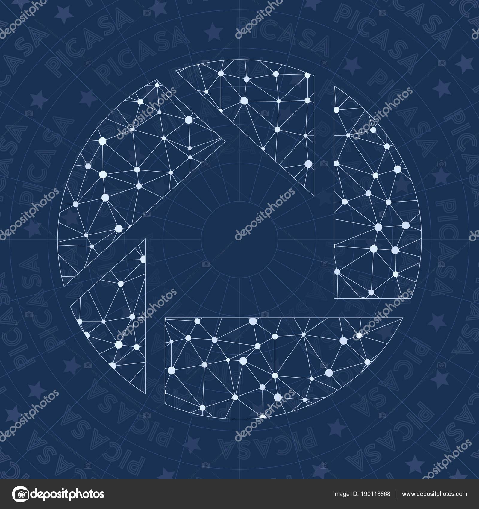 Picasa network symbol Amazing constellation style symbol