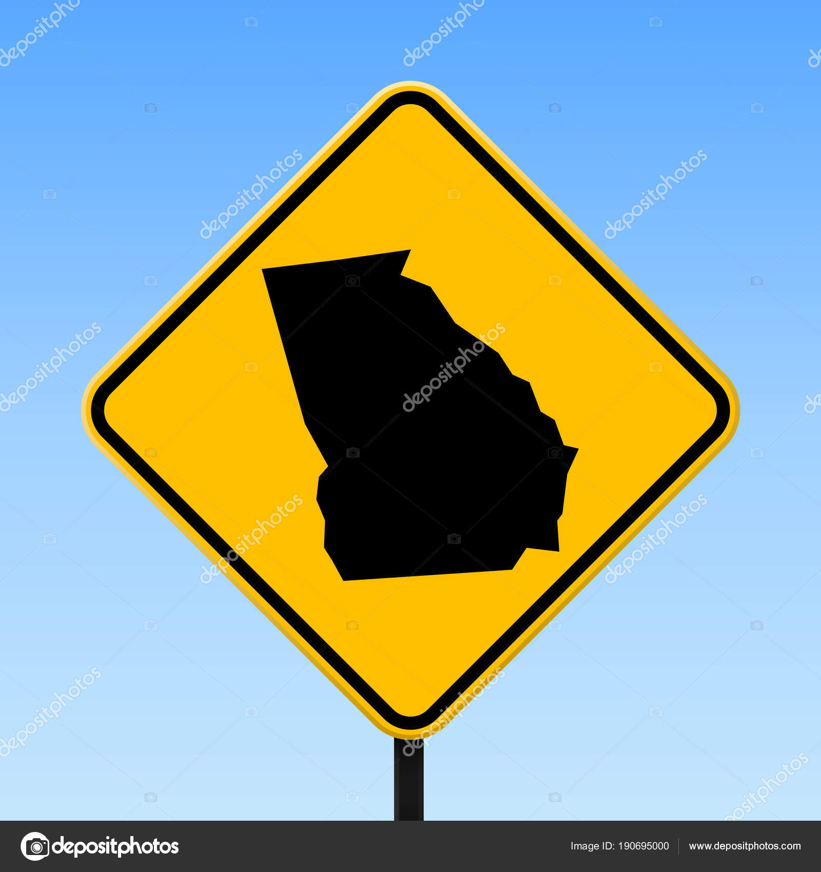 Georgia map on road sign Square poster with Georgia us state ... on georgia city maps, georgia asia maps, georgia home, georgia tourist, georgia highway maps, georgia mountains maps, georgia flight maps, georgia travel, georgia roads, georgia airport map, georgia gold maps,