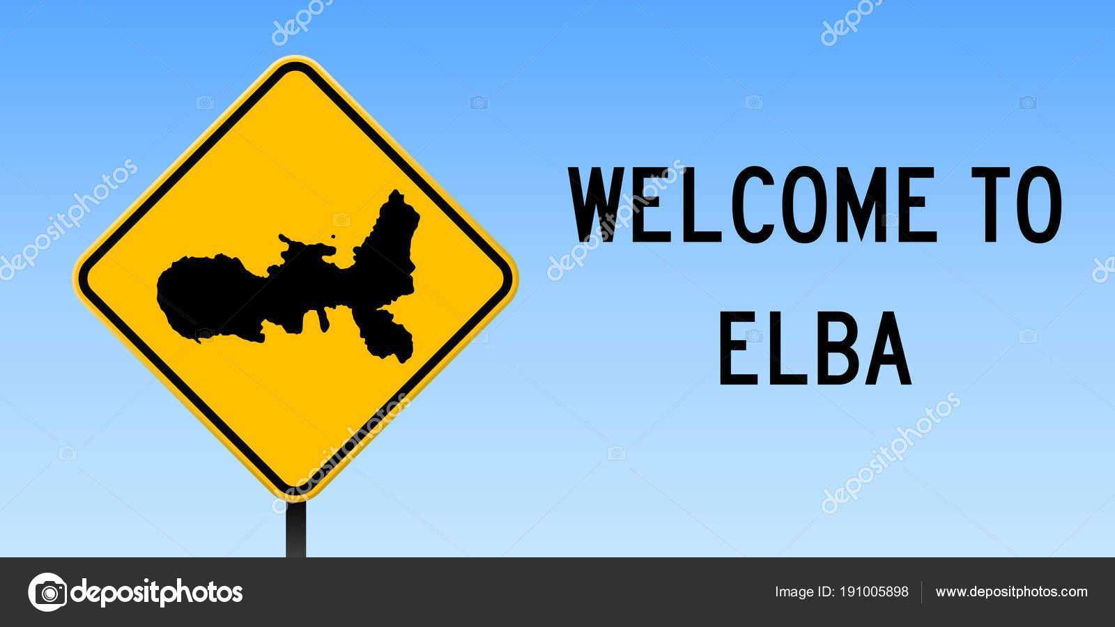 Elba Karte.Elba Karte Auf Straße Zeichen Große Poster Mit Karte Der Insel Elba