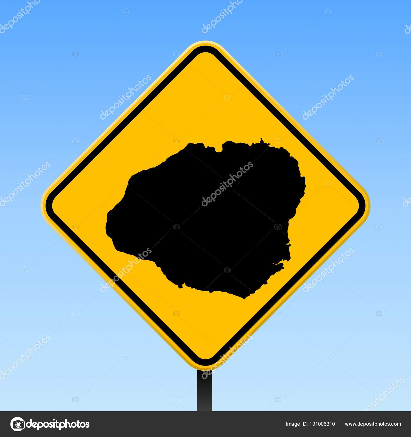 Kauai map on road sign Square poster with Kauai island map on yellow on kin map, kawasaki map, martin map, waldorf map, sacred ridge site map, iwate prefecture map, iwaizumi map, baldwin map, marshall map,