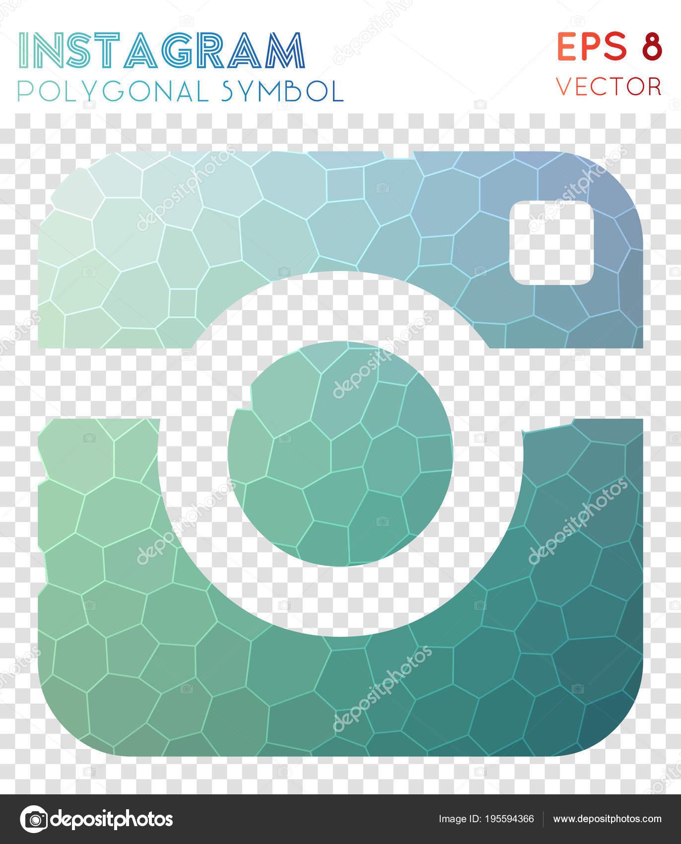 Instagram Polygonal Symbol Appealing Mosaic Style Symbol Uncommon