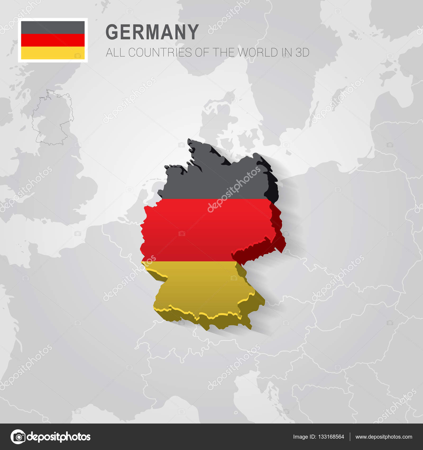 Map Of Germany With Neighbouring Countries.Germany And Neighboring Countries Europe Administrative Map