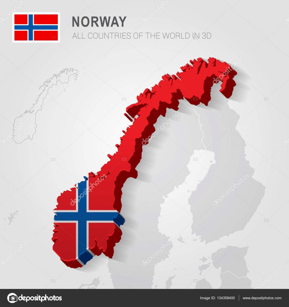 Norway And Neighboring Countries Europe Administrative Map - Norway map vector countries
