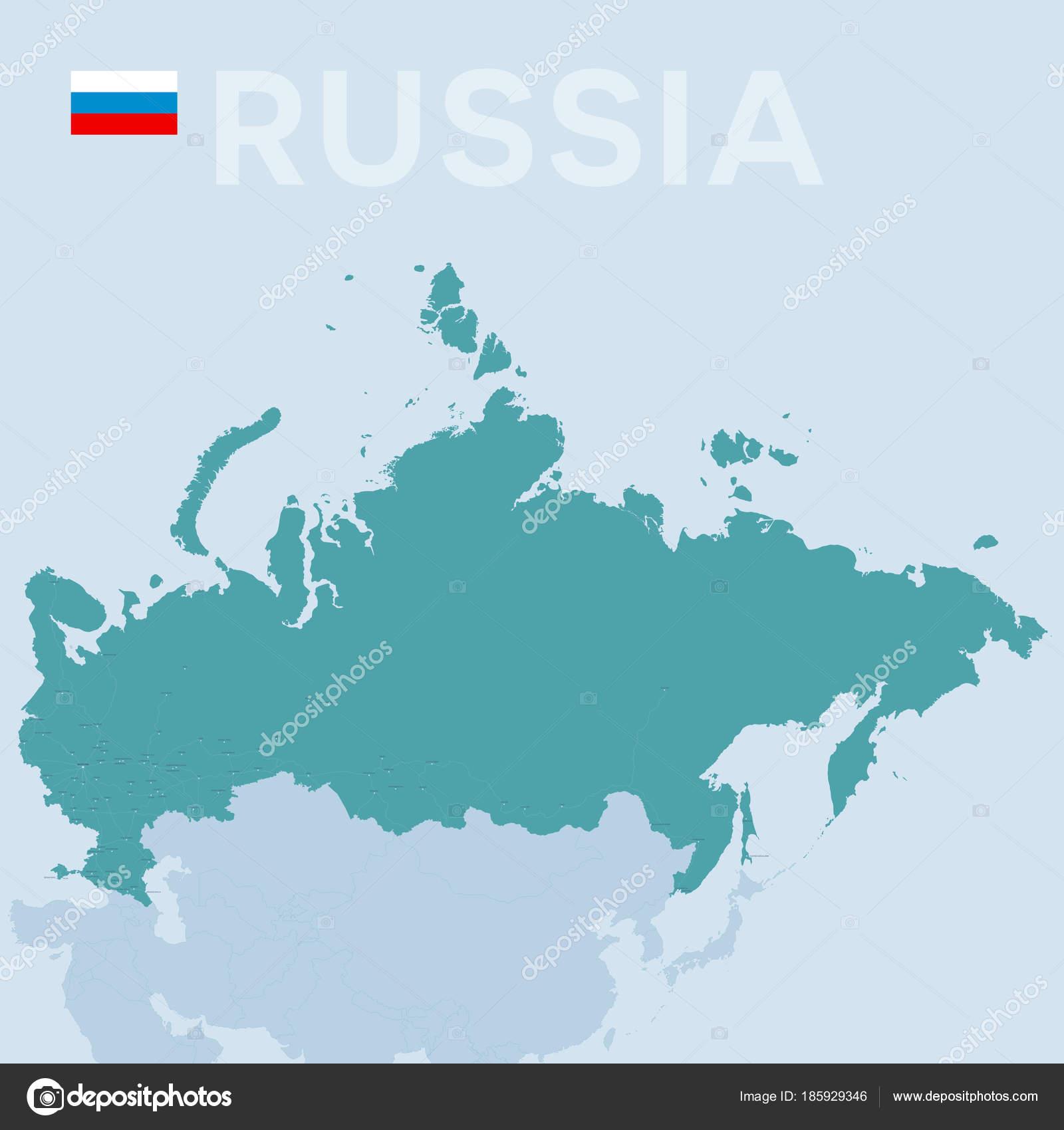 Karte Russland Asien.Verctor Karte Von Städten Und Straßen In Russland Stockvektor