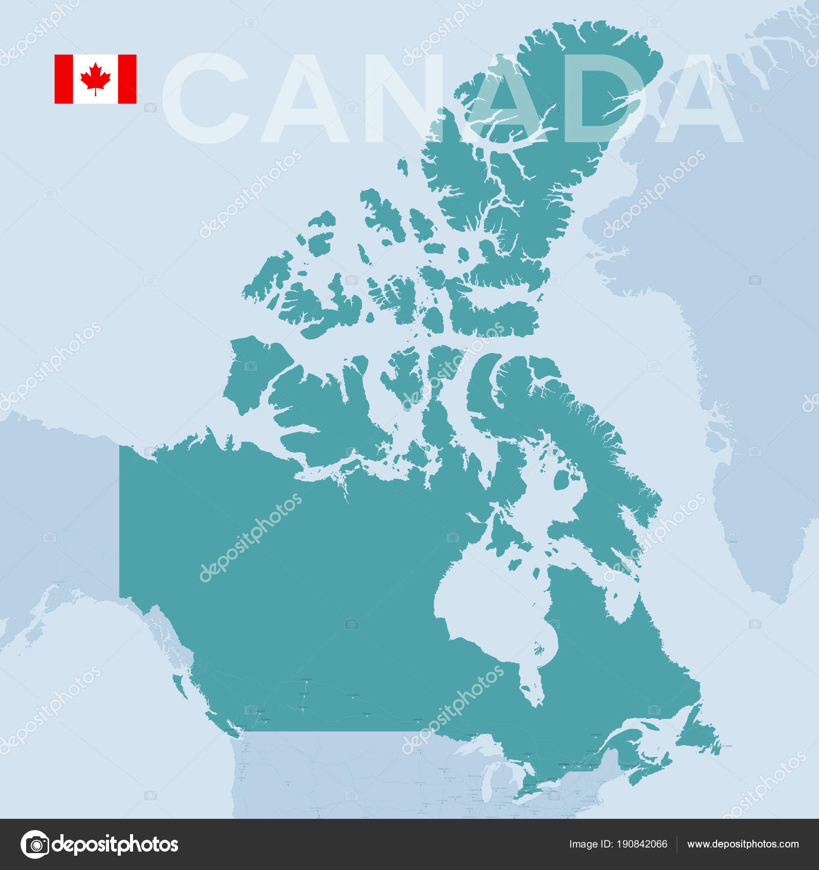 Map Of North America And Canada With Cities.Verctor Map Of Cities And Roads In Canada Stock Vector C Snyde