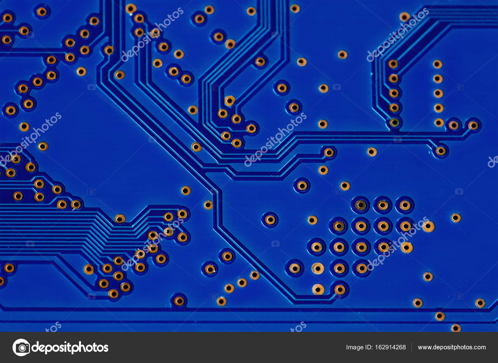 Modern Style Hardware Technology Concept Blue Circuit Board