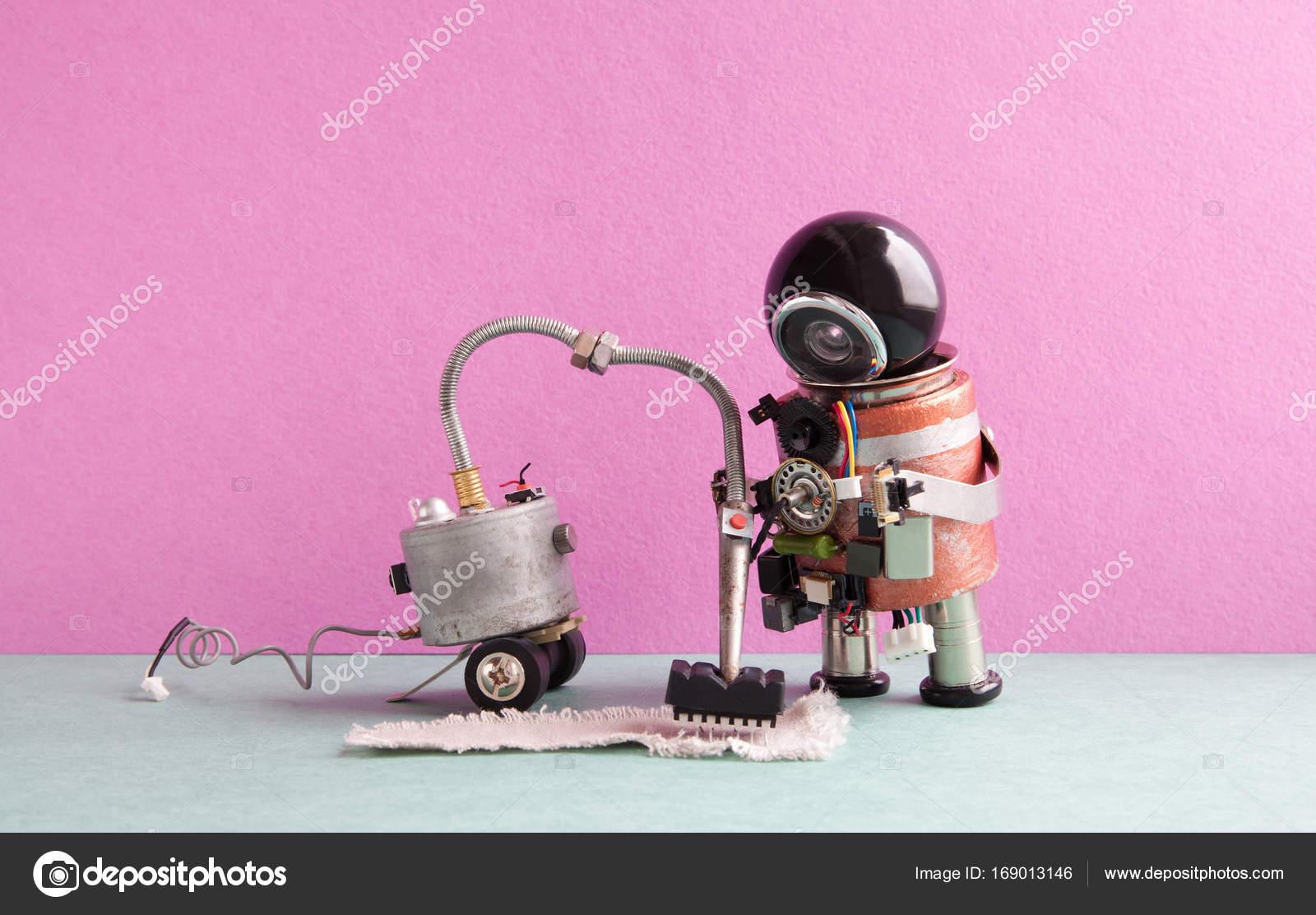 futuristische roboter staubsauger maschine cyborg roboter spielzeug reinigung teppich grau. Black Bedroom Furniture Sets. Home Design Ideas