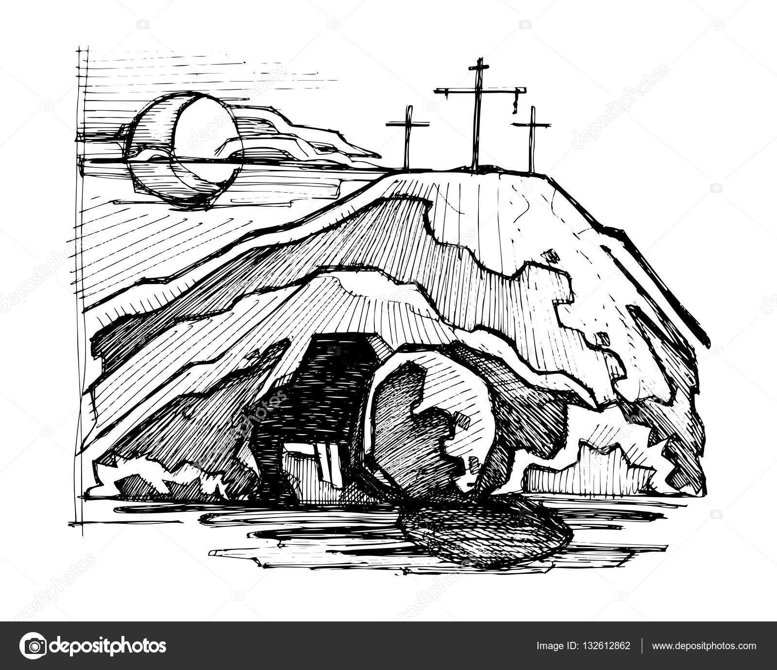 Imágenes La Tumba Vacia De Jesus Para Colorear Tumba Vacía De